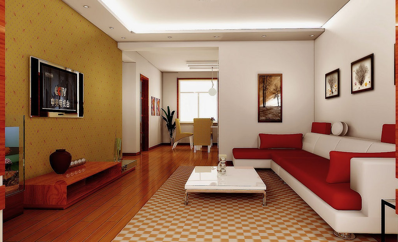 Beautiful minimalist living room homedizz for Minimalist living videos