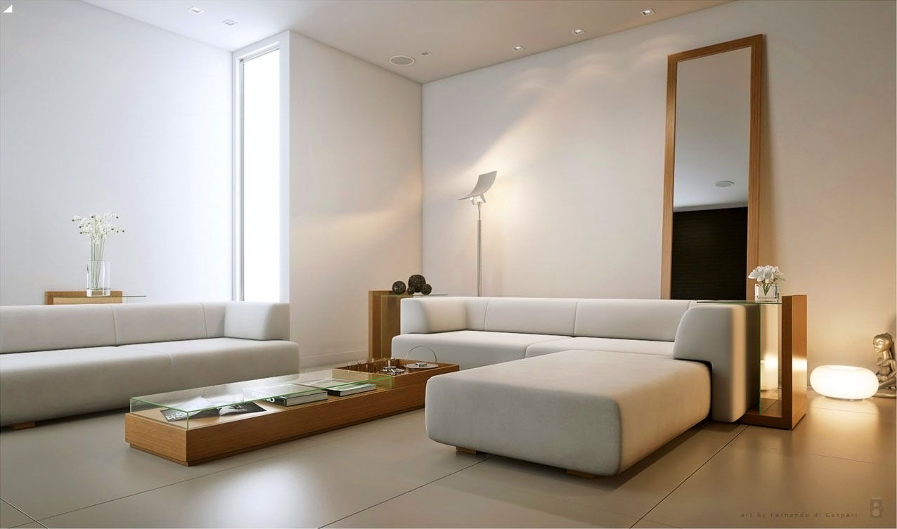 60 top modern and minimalist living rooms for your inspiraton homedizz for Minimalist design for small living room