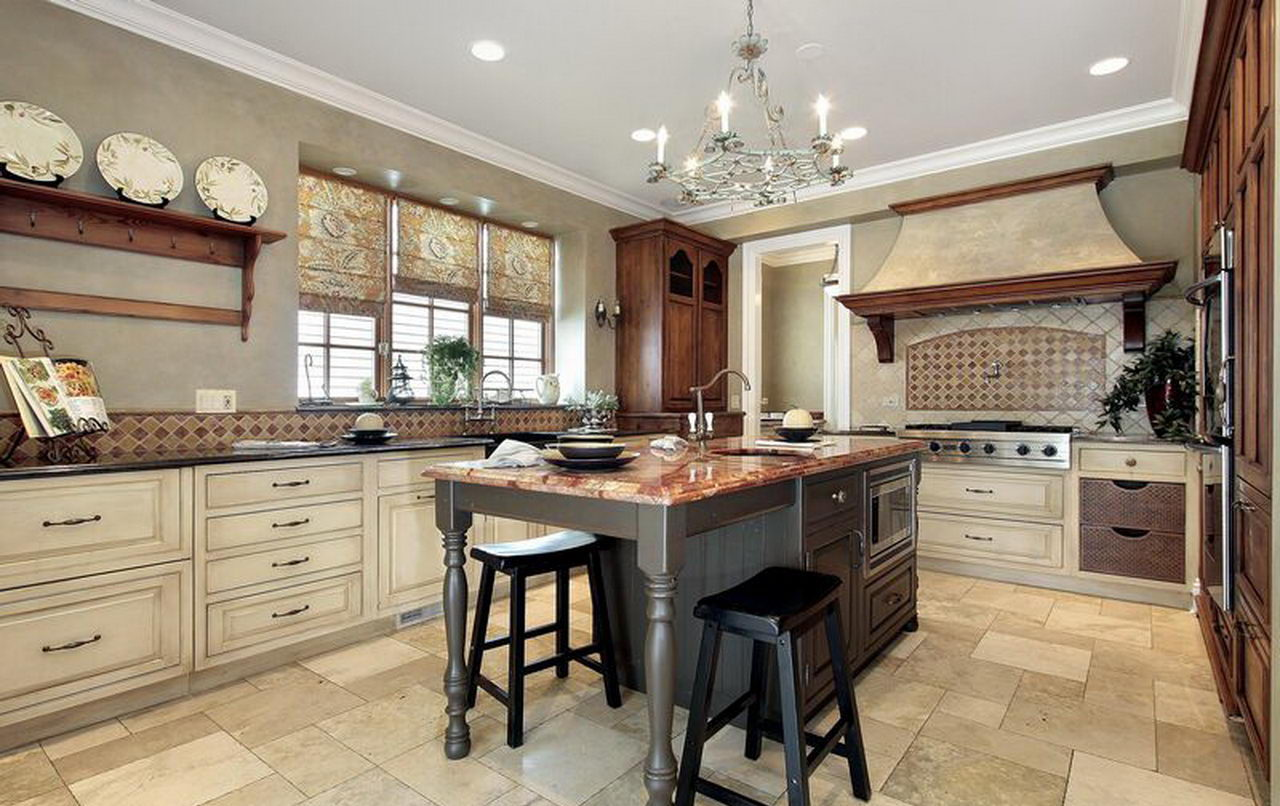 42 best kitchen design ideas with different styles and for Country kitchen designs layouts