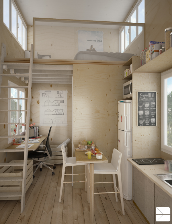 Designing For Super Small Spaces Micro Apartments Homedizz - Designing for small spaces 3 beautiful micro lofts