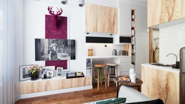 modern small studio apartment design