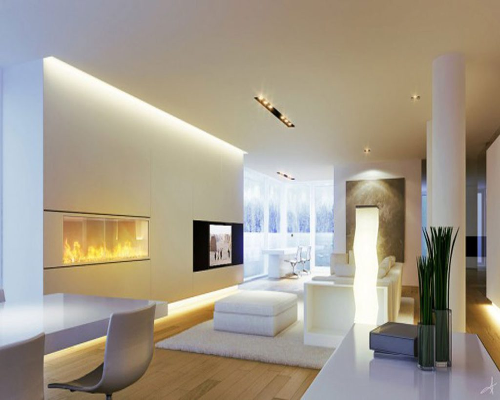 how to create minimalist living room