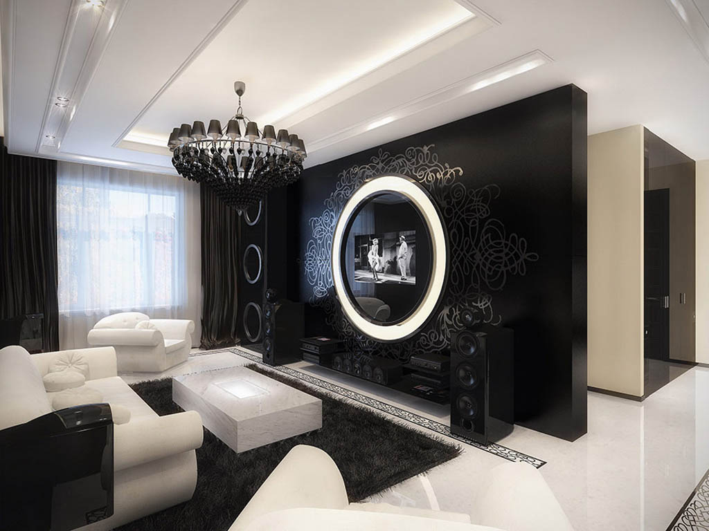images of modern living room ideas black and white