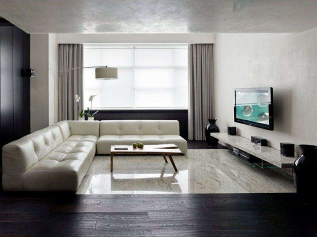 60 top modern and minimalist living rooms for your inspiraton homedizz. Black Bedroom Furniture Sets. Home Design Ideas