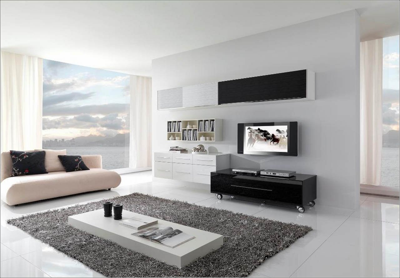 60 top modern and minimalist living rooms for your for Minimalist wall
