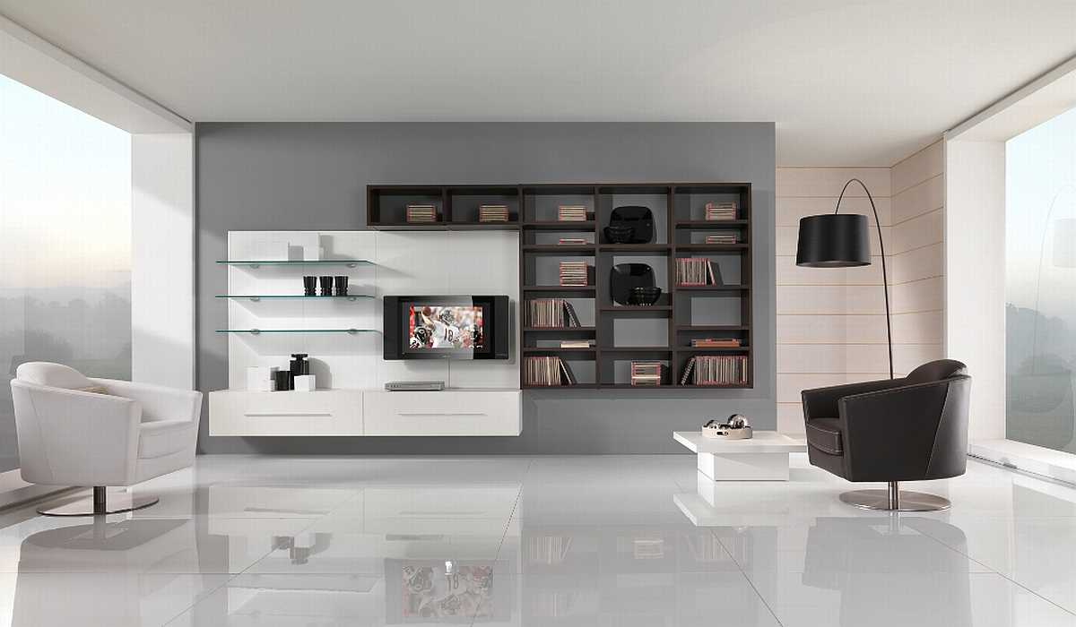 Minimalist Living Room On A
