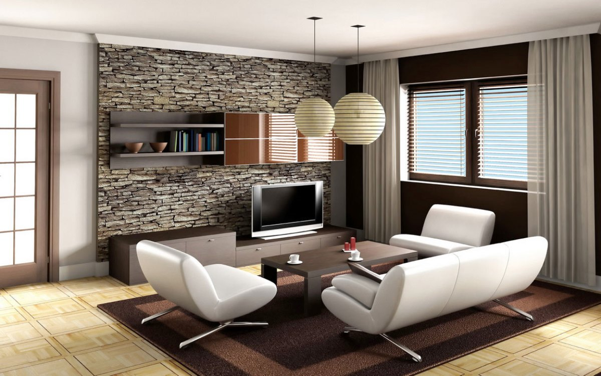 Minimalist living room small apartment homedizz for Modern minimalist living room