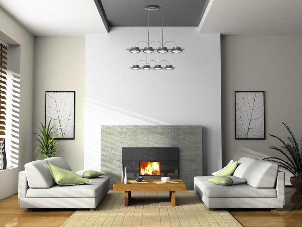 modern and minimalist living room