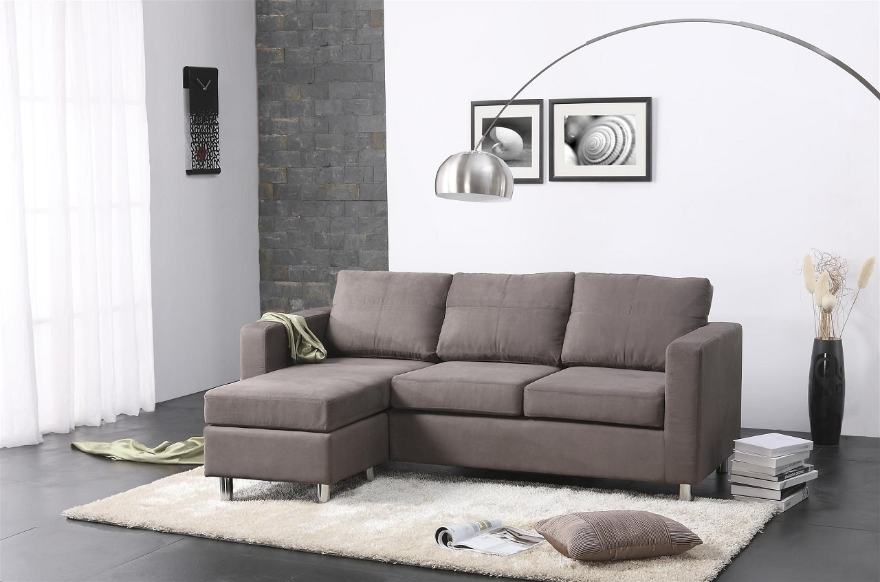 Modern minimalist living room furniture homedizz for Couch for drawing room
