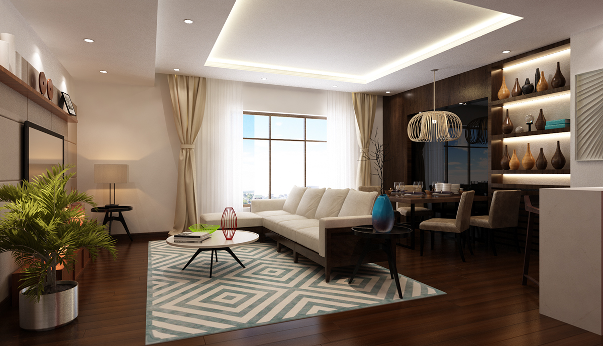 One design sample for one bedroom apartment with small for Sample bedroom designs