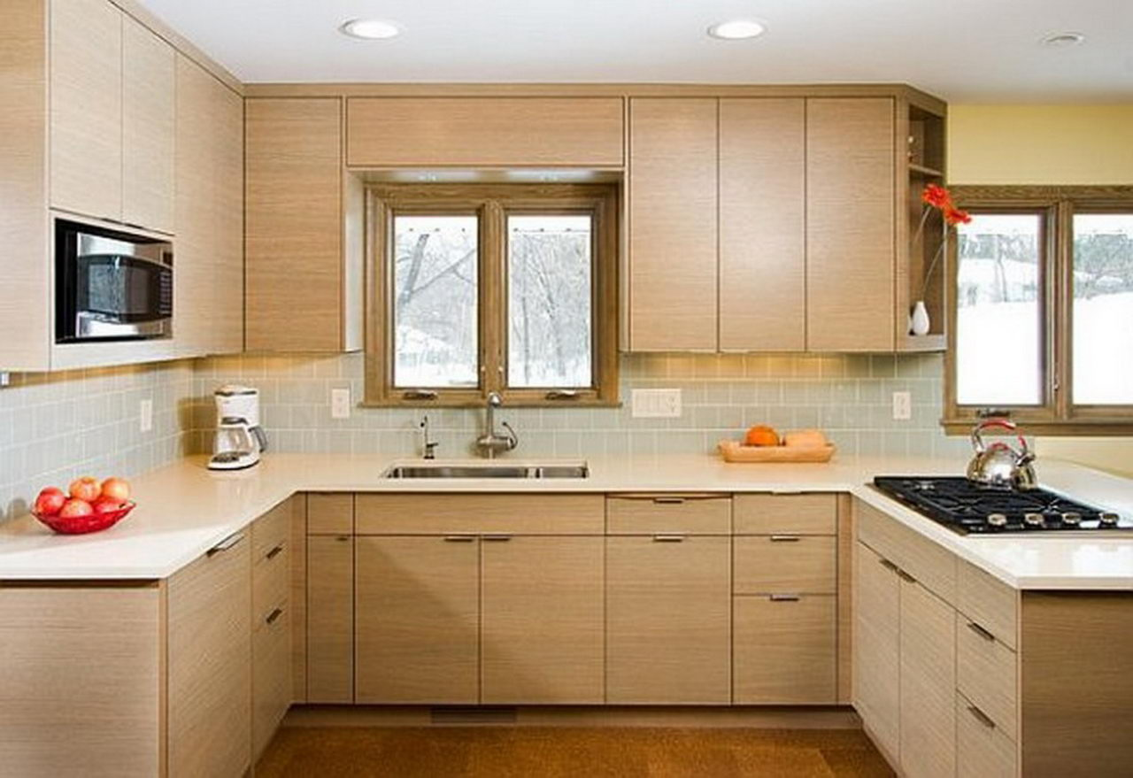 Simple kitchen design ideas homedizz for Simple kitchen design images
