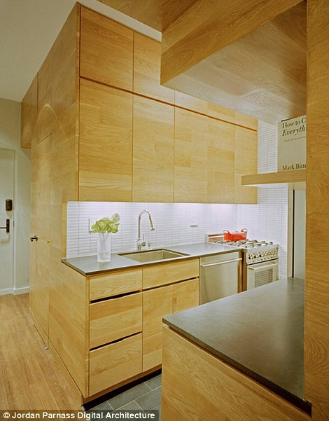 The kitchen makes full use of storage:'The solution was ultimately about exploiting every opportunity for storage,' says Darrick