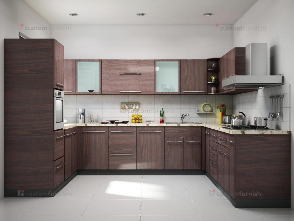u-shaped kitchen interior design