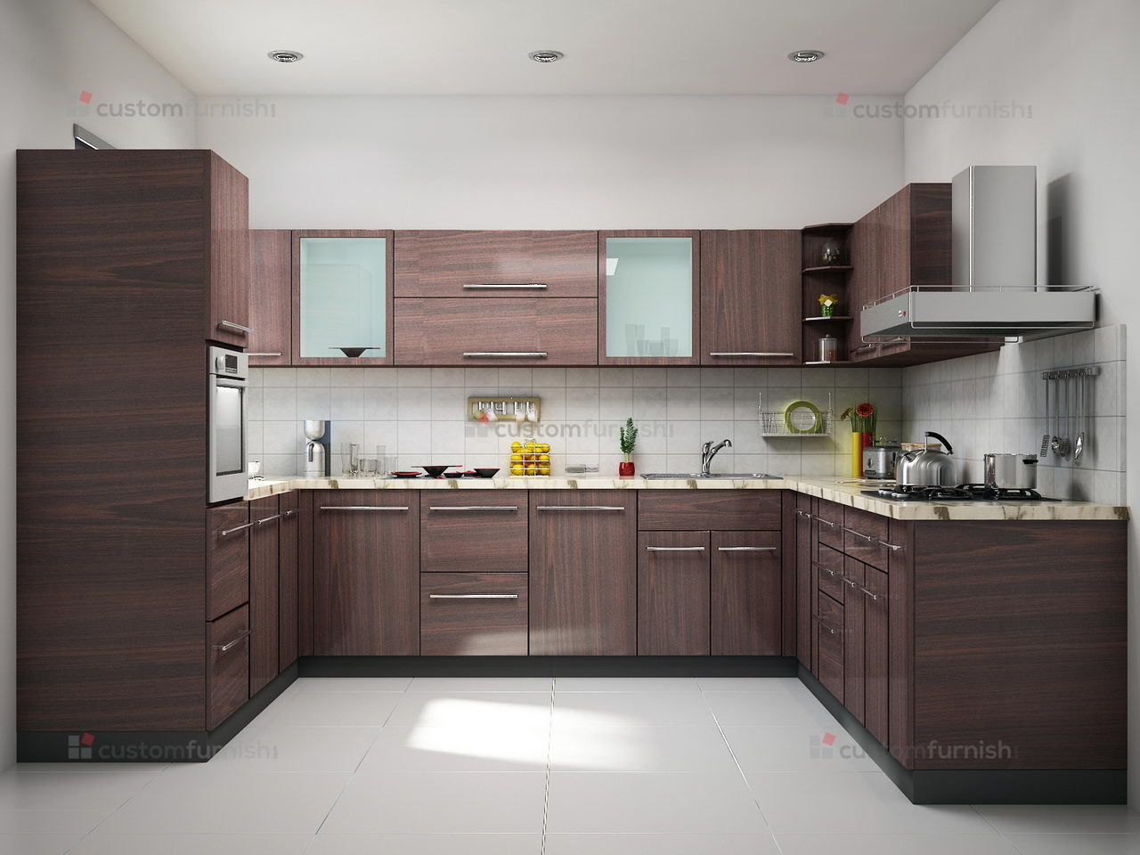 Small kitchen renovationscontemporary u shaped kitchen for Kitchen interior designs pictures