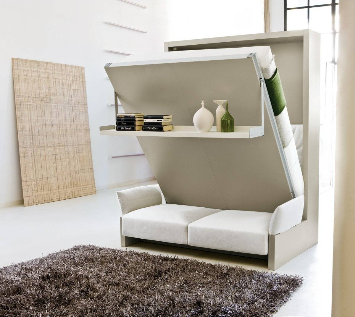 compact bedroom furniture for small space which can transform bedroom to living room