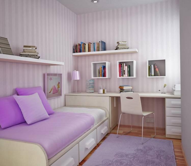 elegant purple and white bedroom theme with minimalist interior