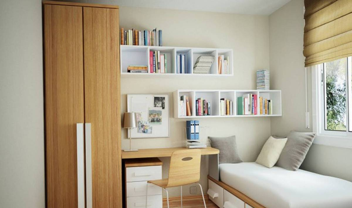 minimalist bedroom for kids with extravagant space saving ideas