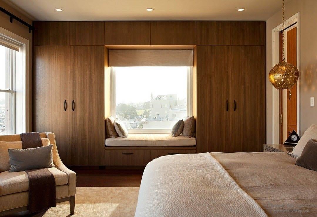 modern corner bedroom furniture set in small bedroom with wooden wardrobe