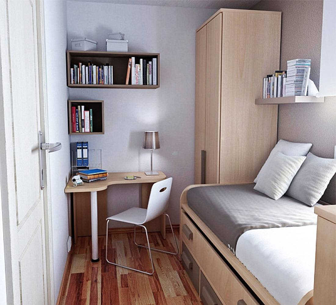 small bedroom furniture sets in white with vintage wooden close inside and smart storage boxes under bed