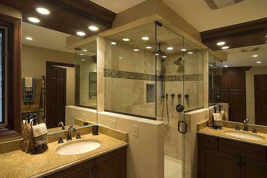 Make your bathroom compact with walk-in shower