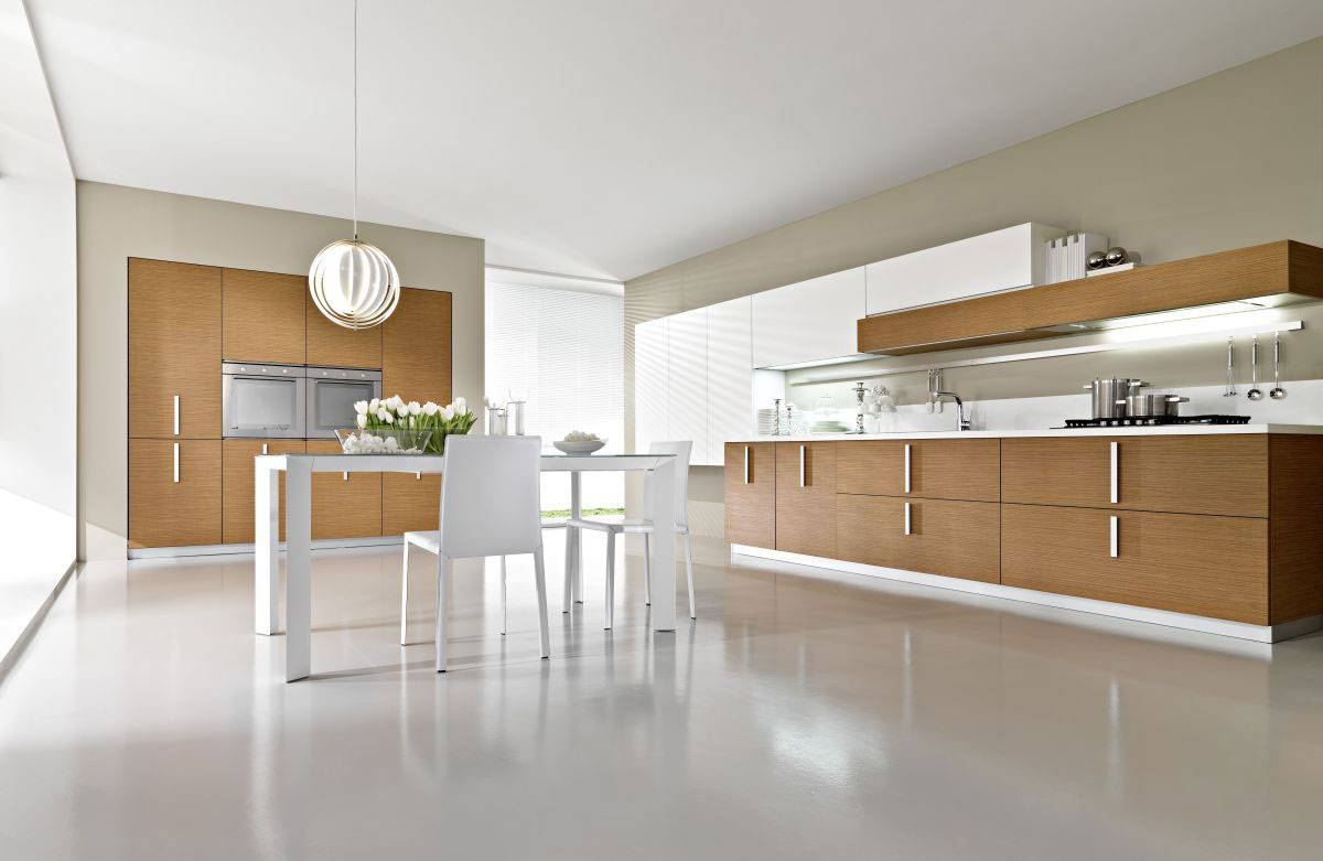 24 ideas of modern kitchen design in minimalist style for Cocinas grandes modernas