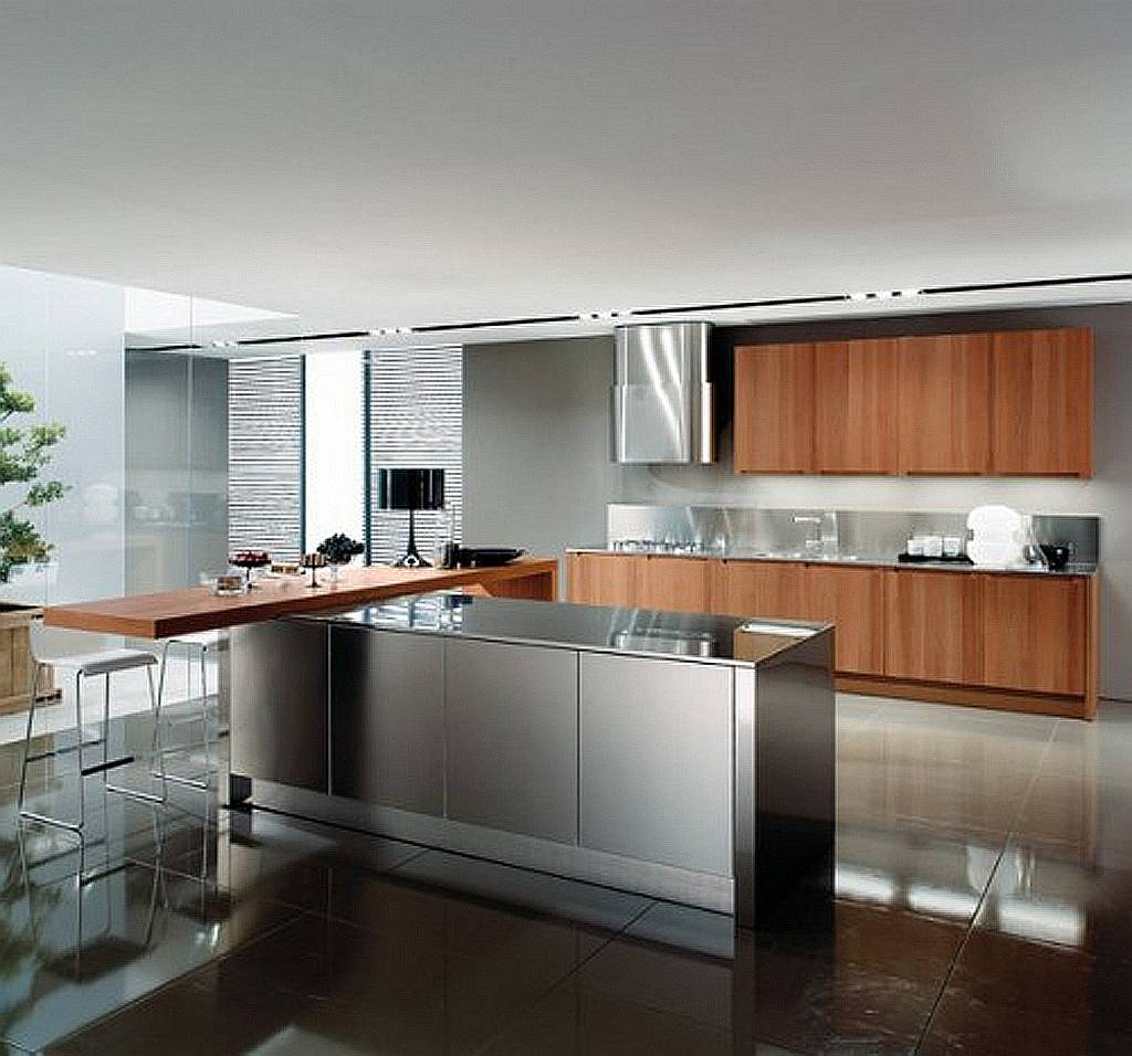 24 ideas of modern kitchen design in minimalist style homedizz - Modern kitchen with island ...