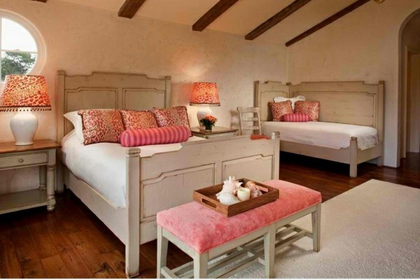 bedroom ideas white and pink