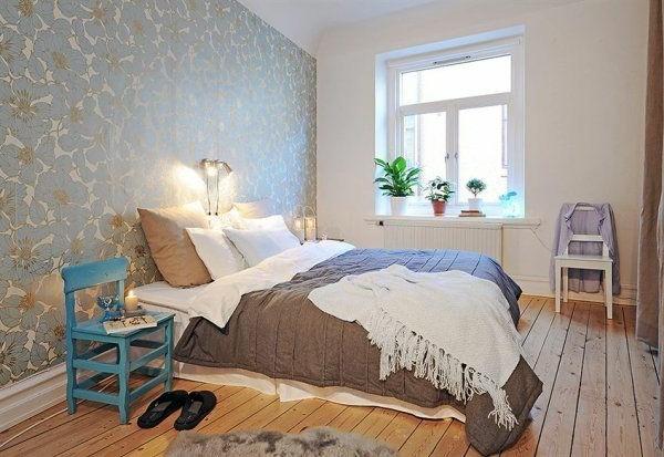 Designed bedrooms in a Scandinavian style cozy lighting