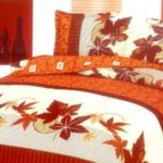 Autumn bedding designs in the bedroom