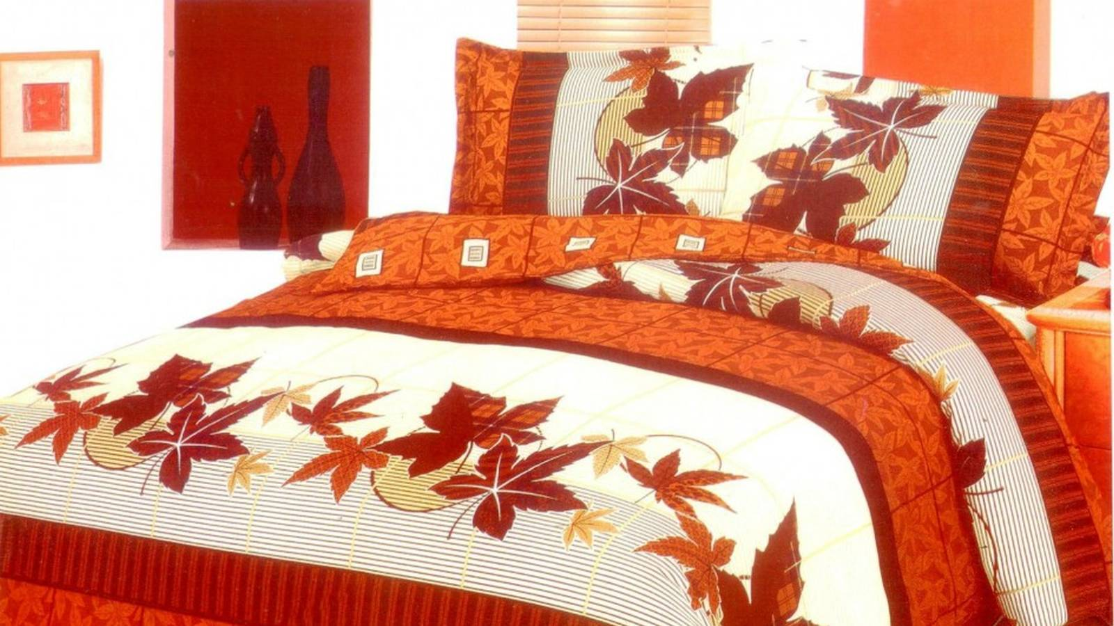 Autumn bedding designs in the bedroom homedizz for Home designs comforter