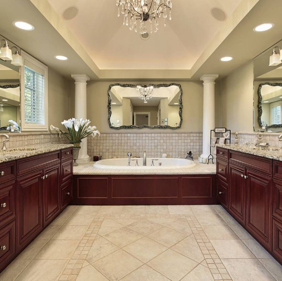 Dark Wood Tile Bathroom: Some Words About Kitchens With Beige Granite Counters