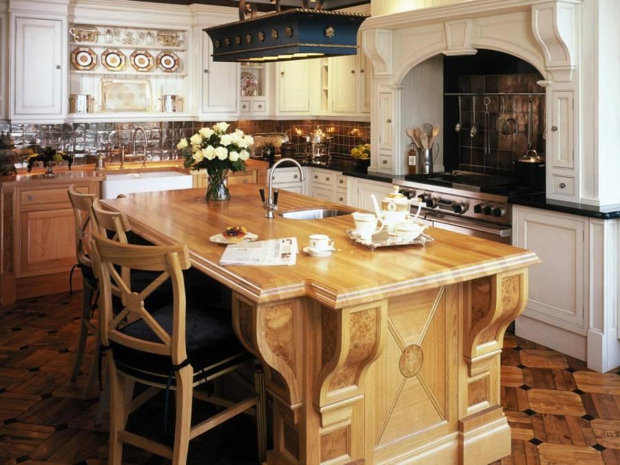 Original Kitchen Wooden Countertop