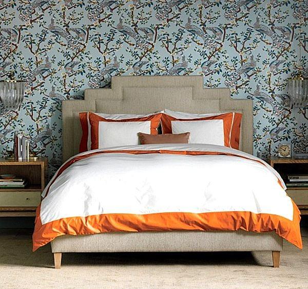 autumnal bed linen designs idea orange edges