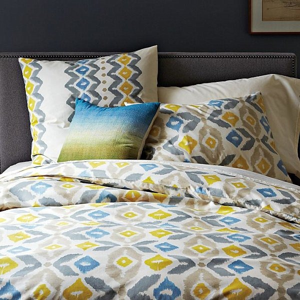 autumnal bed linen designs ikat style pattern