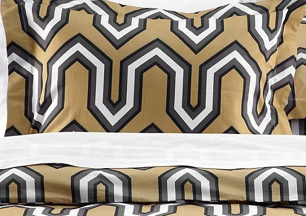 autumnal bed linen designs geometric wash lemon colored gray