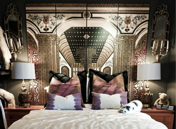 Headboard with original design