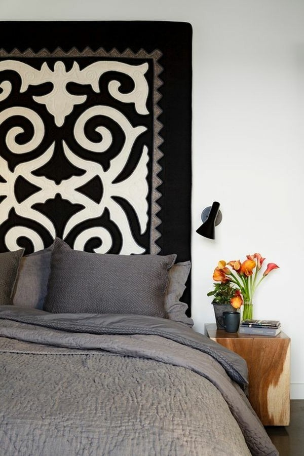 peculiar idea for bed headboard with original design