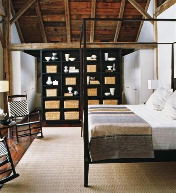 bed frame metal shelves furniture