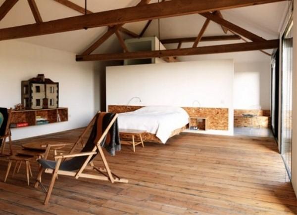 minimalist decoration attic bedroom