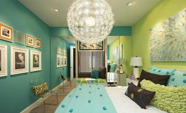 bedroom design ideas wall colors blue green