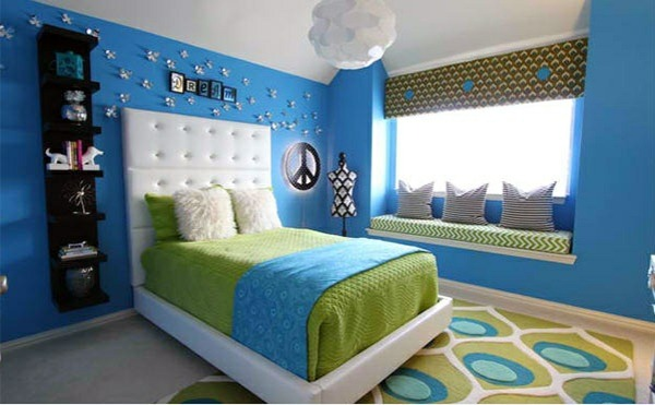 bedroom colors ideas blue and green