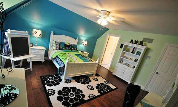 bedded pillar bedroom colors ideas wall color white blue green bedding