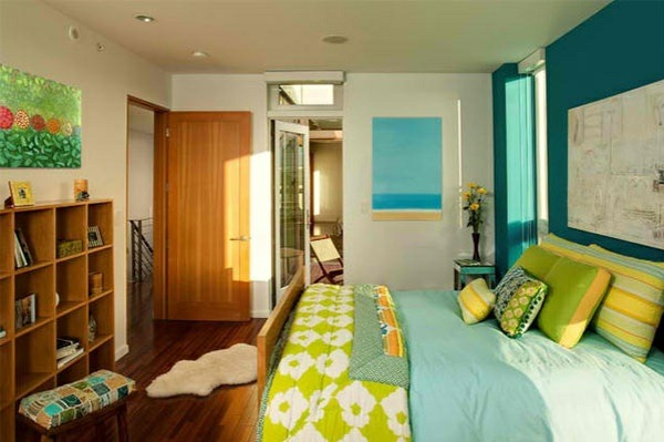 bedroom colors ideas blue wall color green interior design