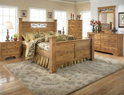 Bedroom furniture light wood