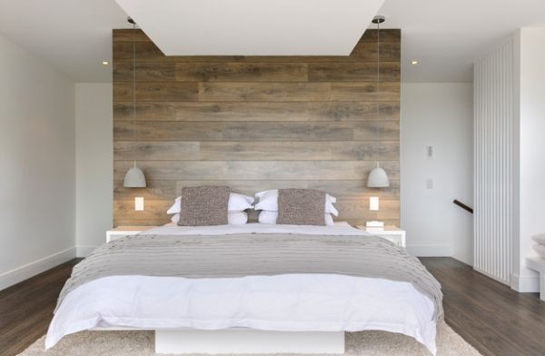 Pendant lights lighting bedroom bed bed-clothes wood