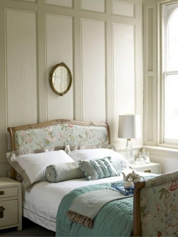 romantic bedroom designs in pastel colors ocean blue bedspread