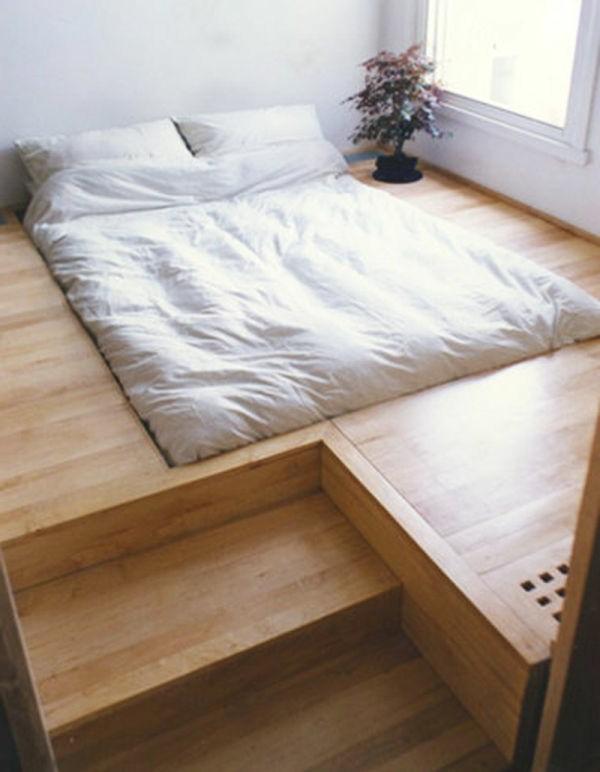 bedroom ideas bed bedroom arte installed pedestal wooden stairs