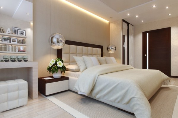 Sophisticated bedroom layout