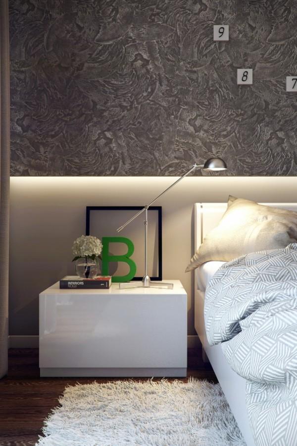White green bedroom decor
