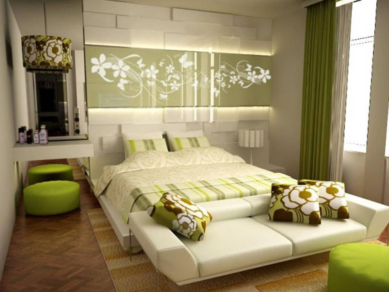 14 Amazing Bedroom Designs With Blue And Bright Green - Homedizz